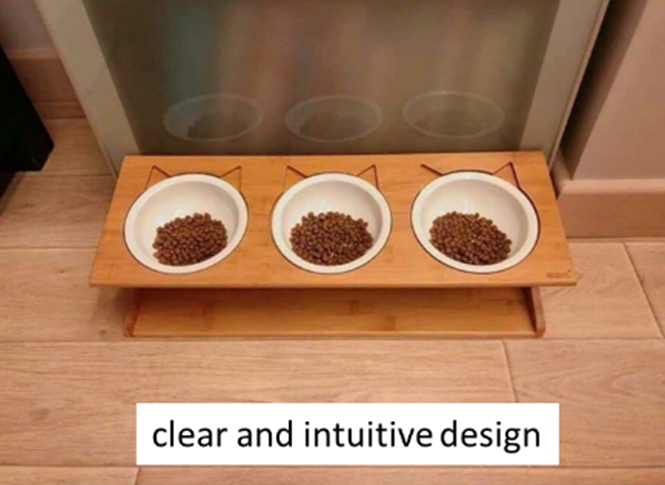 supposed clear and intuitive design
